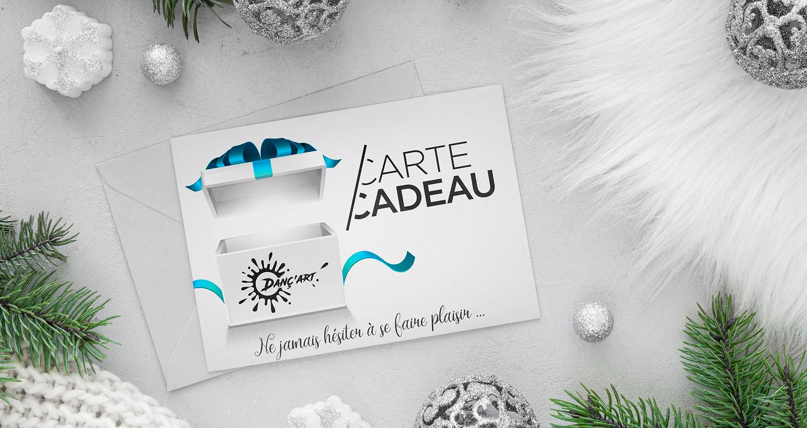 Pour Noël, faites plaisir à vos amis et à votre famille avec la Carte Cadeau DANÇ'ART !