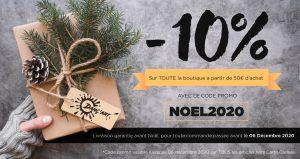 Soyez assuré d'être livré avant les fêtes de Noël et profitez d'un code promo de 10% sur toute la boutique !