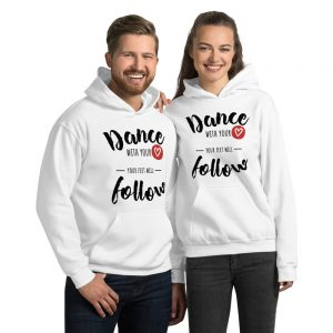 Sweat White à capuche – DANCE With You <3