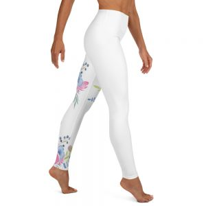 Legging White – Plume Flowers 1