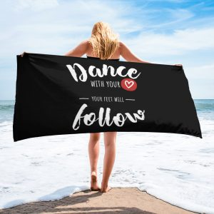 Serviette Black – Dance With Your <3
