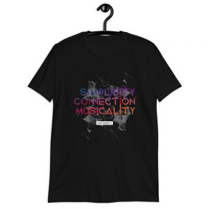 T-shirt Unisexe Black – Simplicity – Connection – Musicality