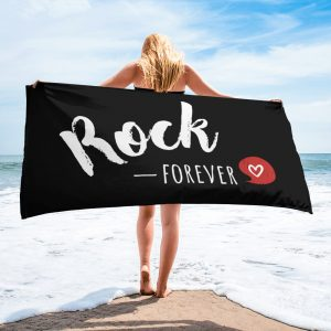 Serviette Black – Rock Forever <3