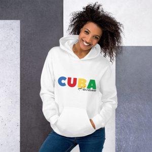 Sweat à capuche White – CUBA COLOR