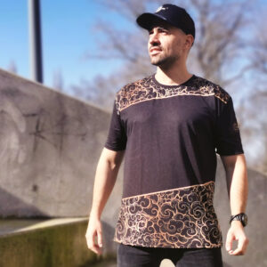T-shirt pour Homme Black – Spirit of the Kizomba Gold