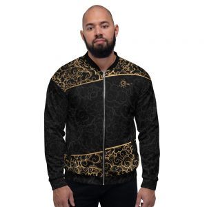 Bombers unisexe Black – Spirit of the Bachata Gold