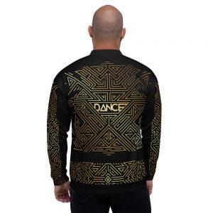 Bombers unisexe – Futuristic Dance Gold