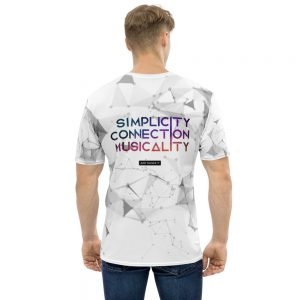 T-shirt pour Homme White – Simplicity Connection Musicality