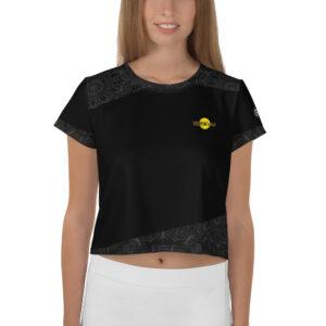 T-shirt Crop-Top Black – TropiK'Lille Mandala
