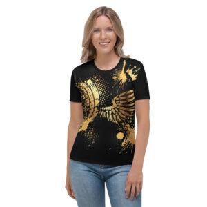 T-shirt pour Femme Black – URBAN KIZ Just Dance it Gold