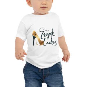 T-shirt à Manches Courtes en Jersey pour Bébé White – Tropik Ladies