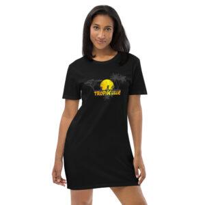 Robe t-shirt en coton bio Black – Tropik'Lille