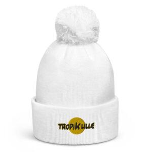 Bonnet à pompon White – Tropik'Lille