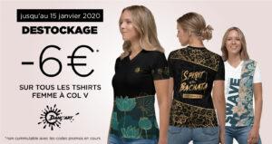 Fin de série pour les Tshirts Femme à Col V. Profitez d'une offre exceptionnelle !