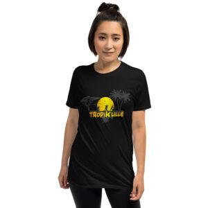 T-shirt Unisexe à Manches Courtes Black – Tropik'Lille