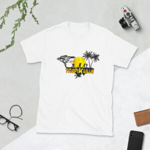T-shirt Unisexe à Manches Courtes White – Tropik'Lille