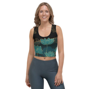 Crop-top Black – Golden Lotus