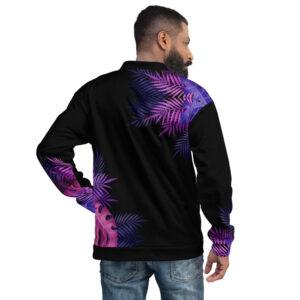 Bombers unisexe – Purple Tropical
